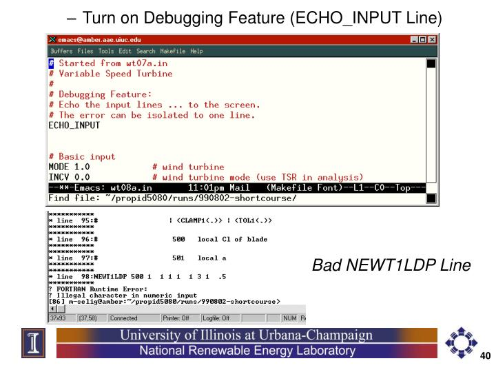 Turn on Debugging Feature (ECHO_INPUT Line)