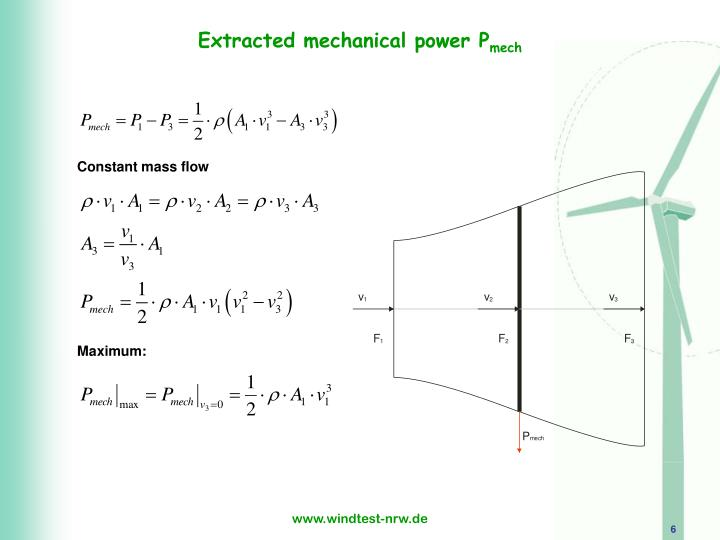 Extracted mechanical power P