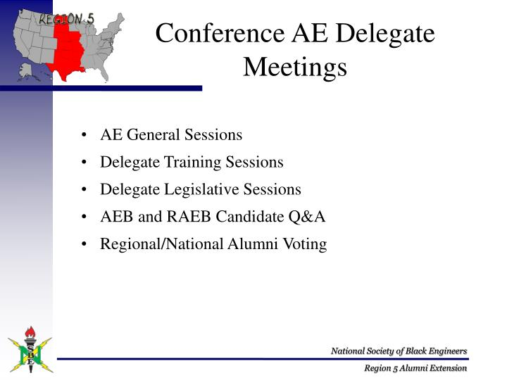 Conference AE Delegate Meetings