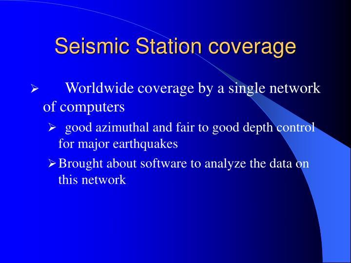 Seismic Station coverage