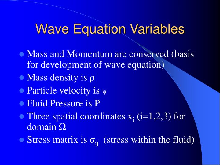 Wave Equation Variables