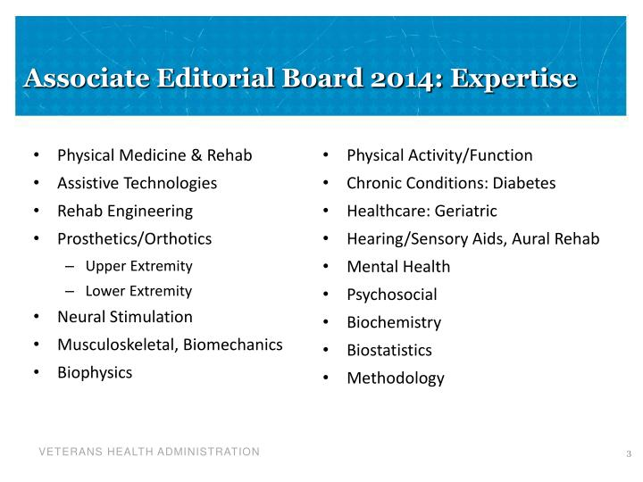 Associate editorial board 2014 expertise
