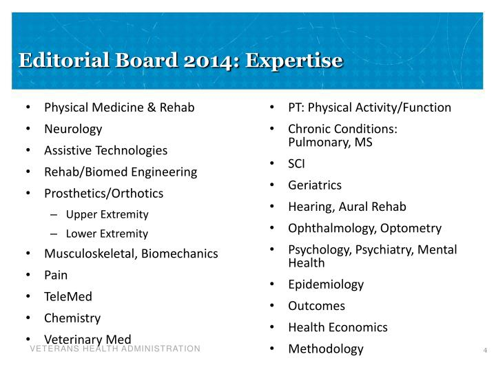 Editorial Board 2014: Expertise
