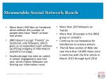 measurable social network reach