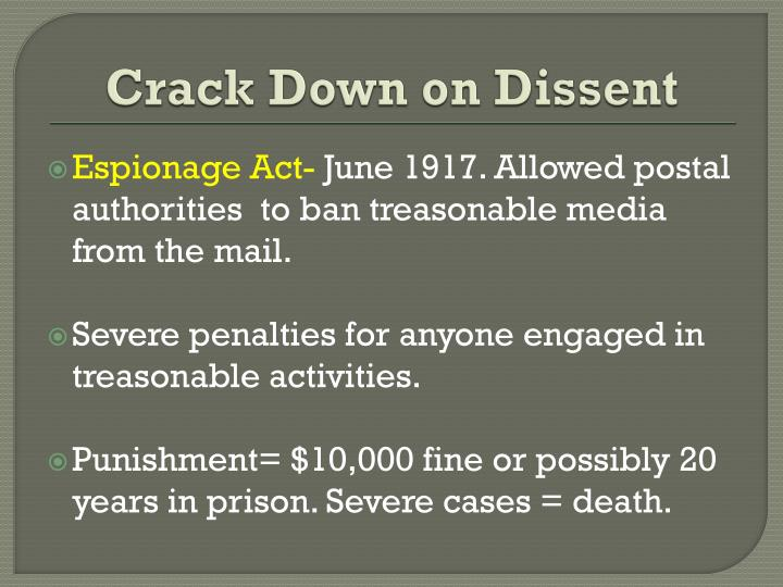 Crack Down on Dissent