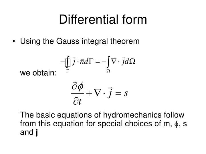 Differential form