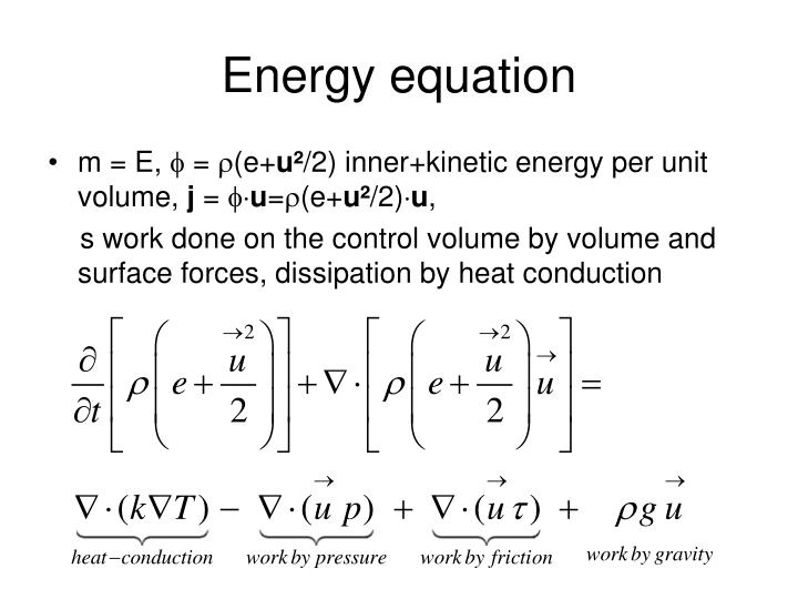 Energy equation