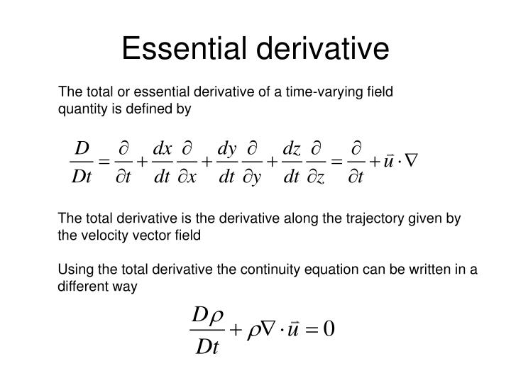 Essential derivative