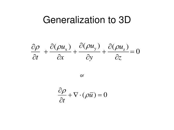 Generalization to 3D