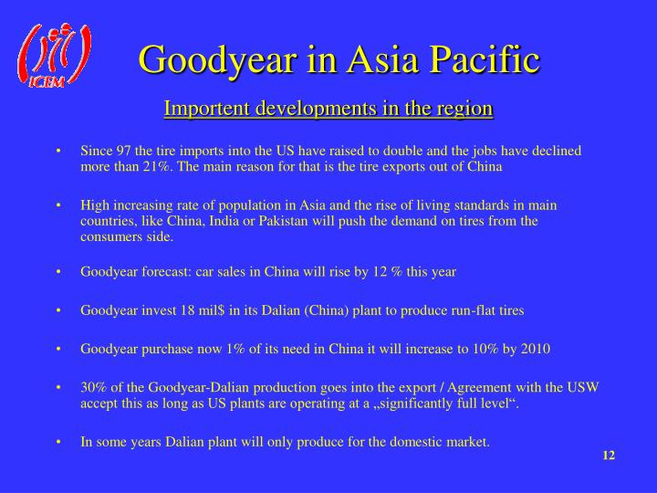 Goodyear in Asia Pacific