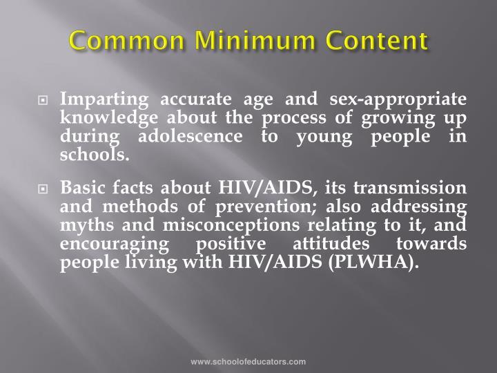 Common Minimum Content