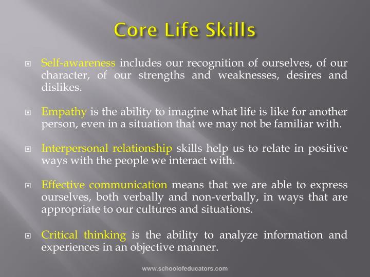 Core Life Skills