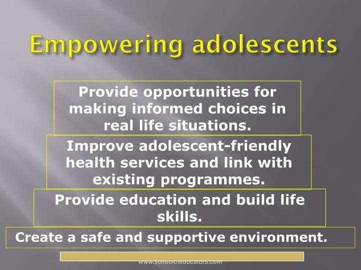 Empowering adolescents
