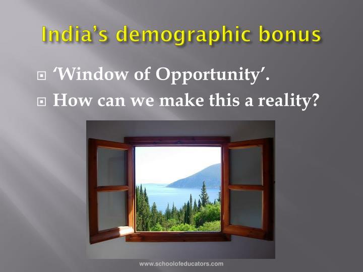India's demographic bonus