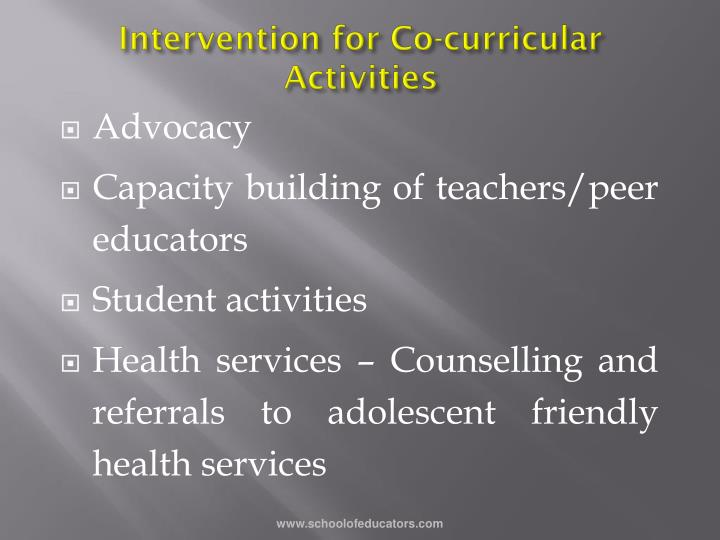 Intervention for Co-curricular Activities