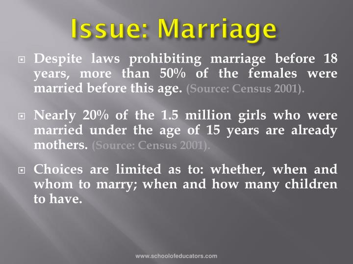 Issue: Marriage