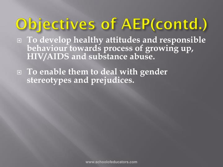 Objectives of AEP(contd.)