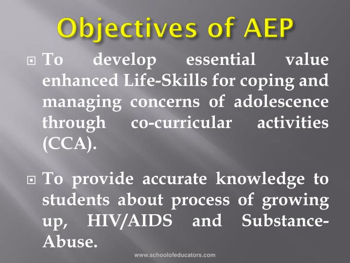Objectives of AEP