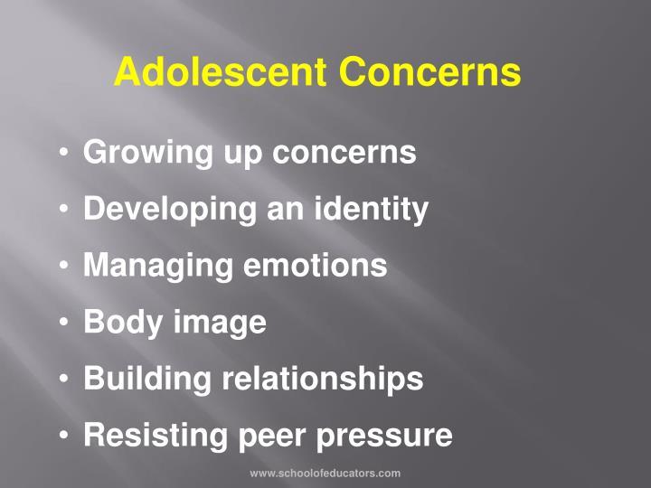 Adolescent Concerns