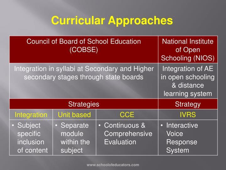 Curricular Approaches