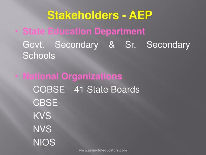 Stakeholders - AEP
