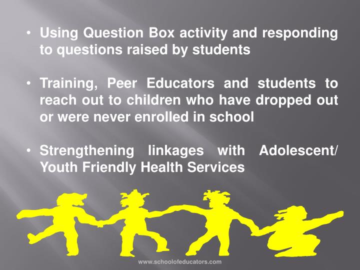 Using Question Box activity and responding to questions raised by students