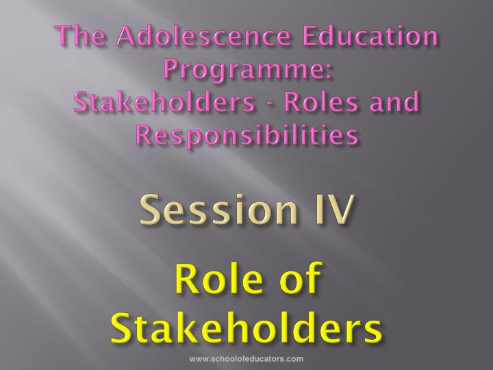 The Adolescence Education Programme: