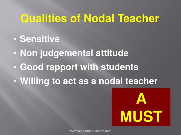 Qualities of Nodal Teacher
