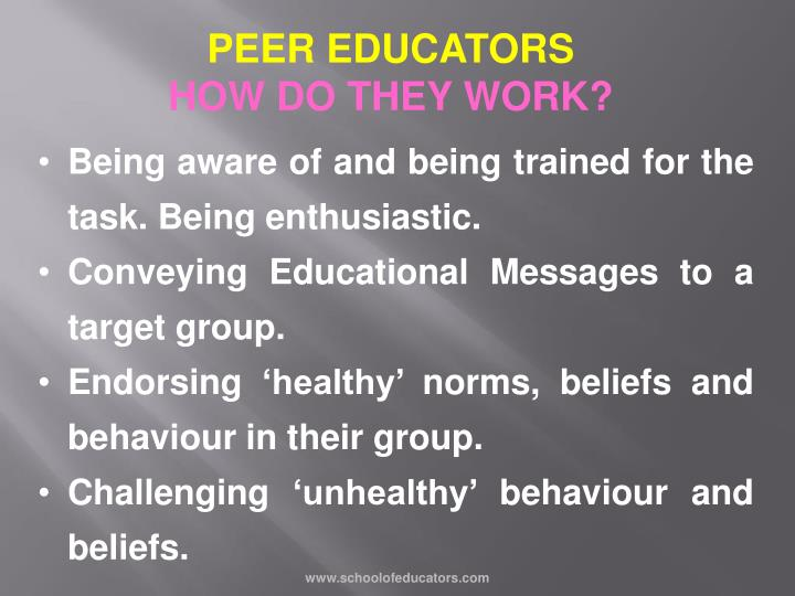 PEER EDUCATORS
