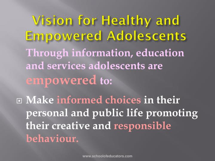 Vision for Healthy and Empowered Adolescents