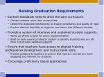raising graduation requirements