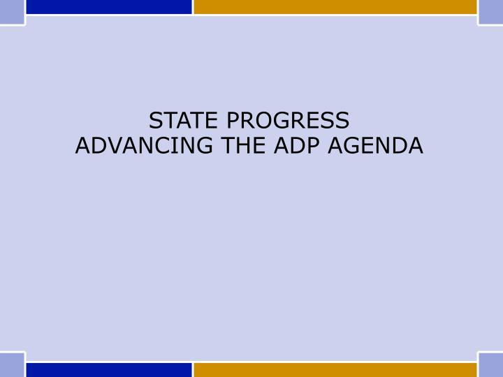 STATE PROGRESS