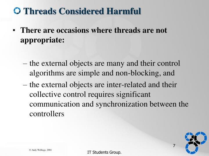 Threads Considered Harmful