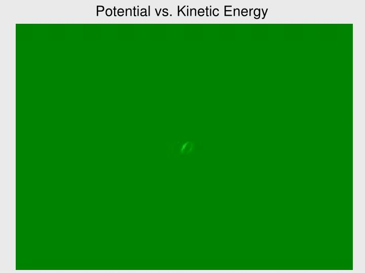 Potential vs. Kinetic Energy