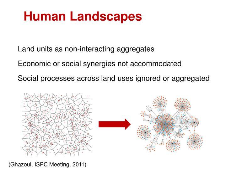 Land units as non-interacting aggregates