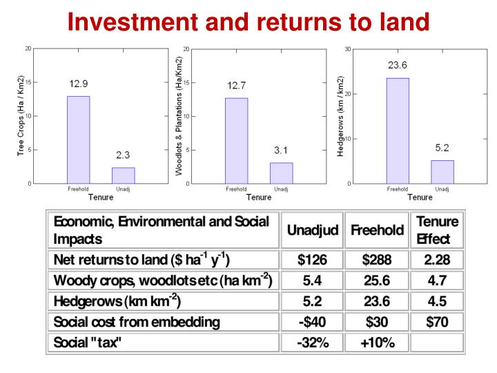 Investment and returns to land