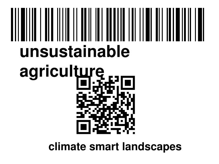 unsustainable  agriculture