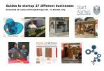 guides to startup 27 different businesses download at www startvejledninger dk in danish only