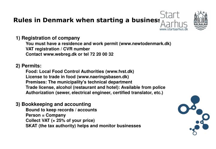 Rules in denmark when starting a business