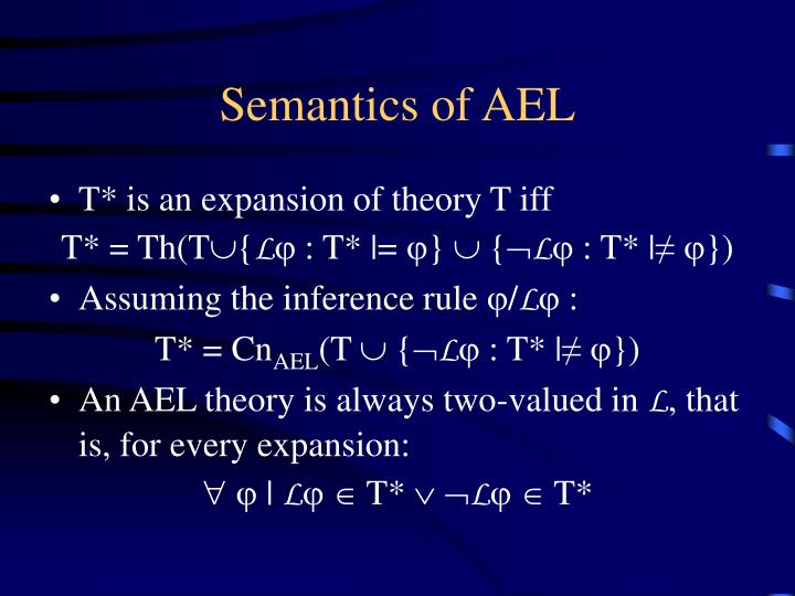 Semantics of AEL