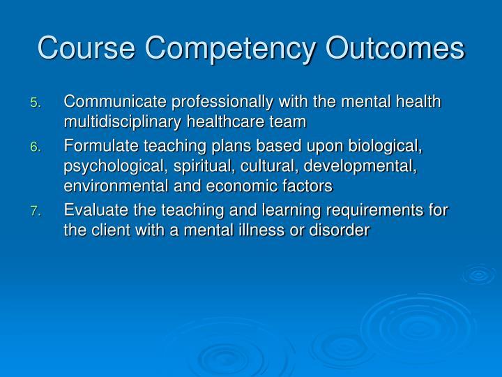 Course Competency Outcomes
