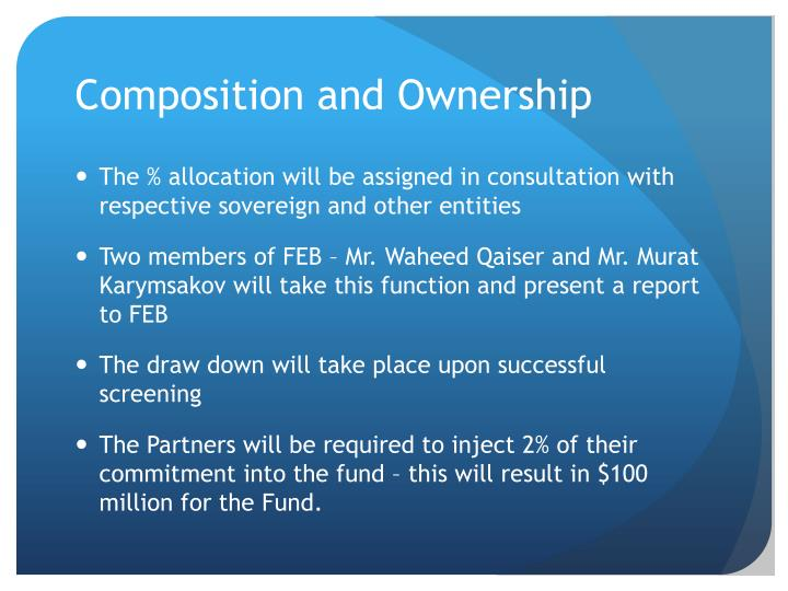 Composition and Ownership