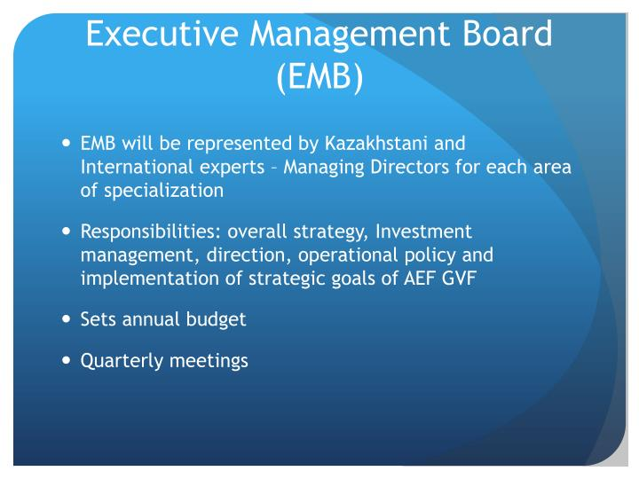 Executive Management Board