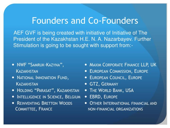 Founders and Co-Founders