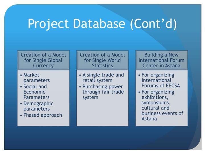 Project Database (Cont'd)