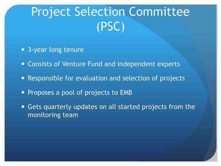 Project Selection Committee