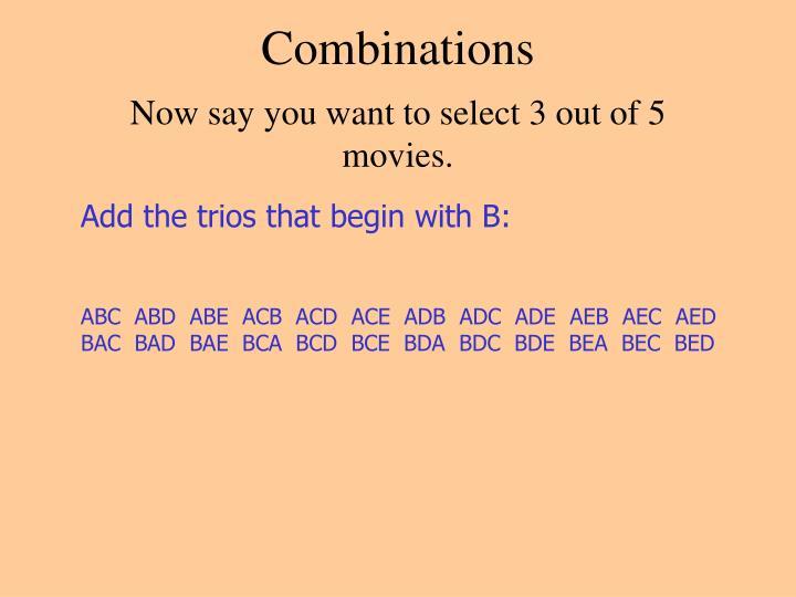Combinations