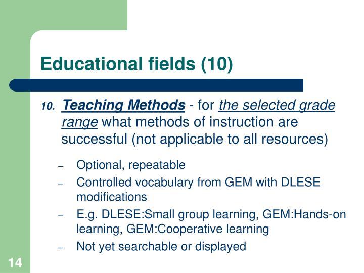 Educational fields (10)