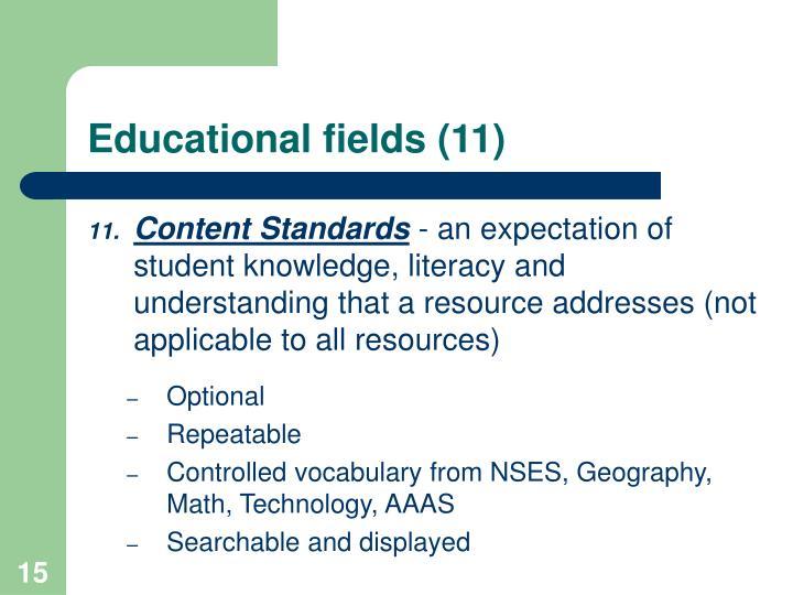 Educational fields (11)