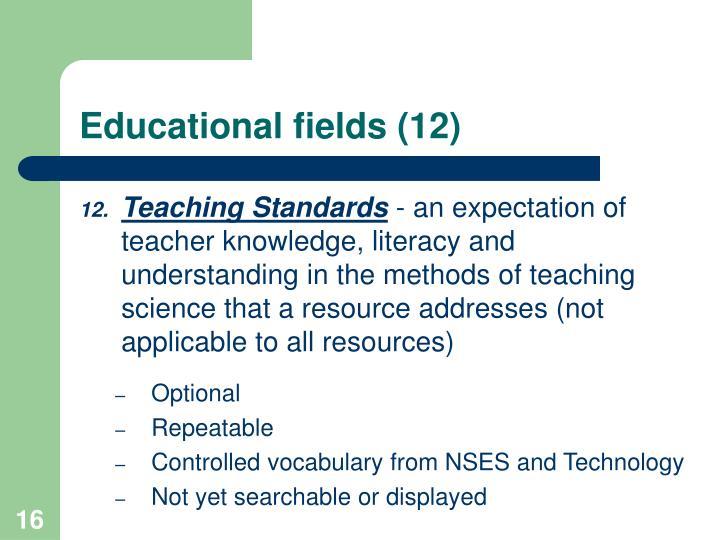 Educational fields (12)